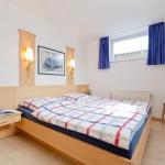 Ansicht Schlafzimmer Ferienwohnung 3 im Ferienhaus Sielmann auf Norderney